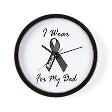 I Wear Black For My Dad 1 Wall Clock