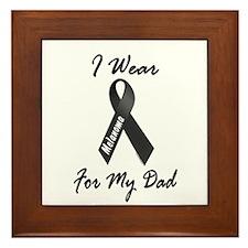 I Wear Black For My Dad 1 Framed Tile