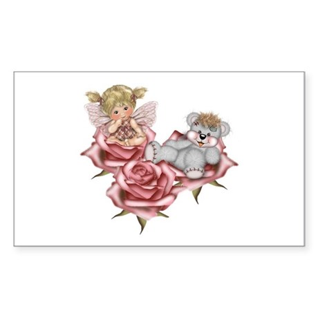 PINK ROSES Rectangle Sticker