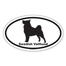 SWEDISH VALLHUND Oval Decal