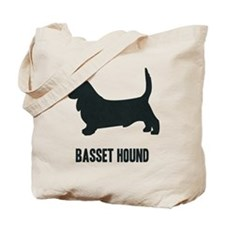 Silhouette - Basset Hound Tote Bag