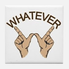 Whatever Hand Gesture Tile Coaster