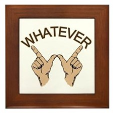 Whatever Hand Gesture Framed Tile