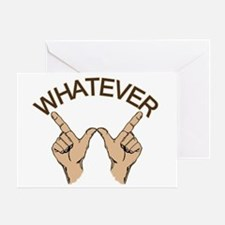 Whatever Hand Gesture Greeting Card