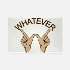 Whatever Hand Gesture Rectangle Magnet