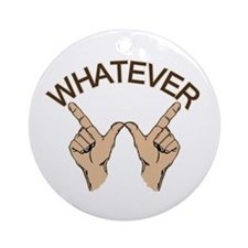 Whatever Hand Gesture Ornament (Round)