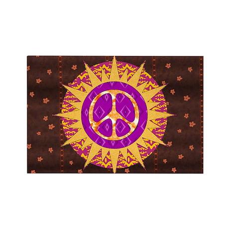 Peace Sun Star Rectangle Magnet (100 pack)