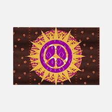 Peace Sun Star Rectangle Magnet