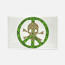 Nature Peace Skull Rectangle Magnet