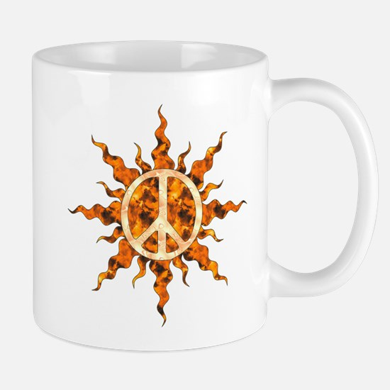 Flaming Peace Sun Mug