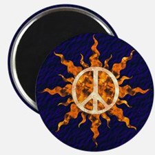 Flaming Peace Sun Magnet