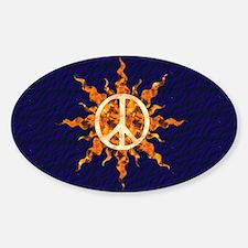 Flaming Peace Sun Decal