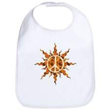 Flaming Peace Sun Bib