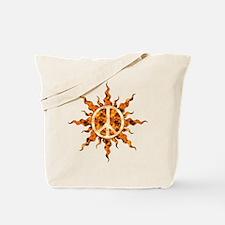 Flaming Peace Sun Tote Bag