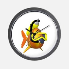 Scuba Fish Wall Clock