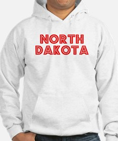Retro North Dakota (Red) Hoodie