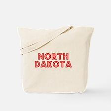 Retro North Dakota (Red) Tote Bag