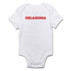 Retro Oklahoma (Red) Infant Bodysuit
