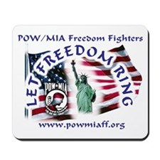 POW/MIA Freedom Fighters Mousepad