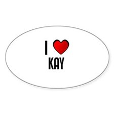 I LOVE KAY Oval Decal