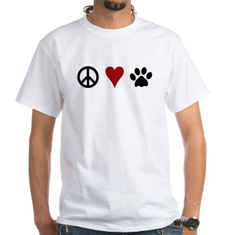Peace,Love & Dogs T-Shirt