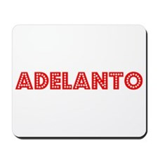 Retro Adelanto (Red) Mousepad