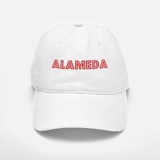Retro Alameda (Red) Baseball Baseball Cap