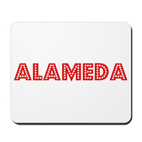 Retro Alameda (Red) Mousepad