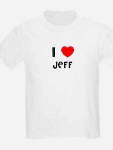 I LOVE JEFF Kids T-Shirt