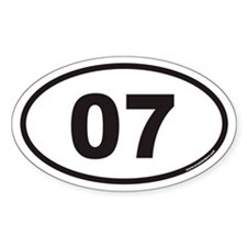 07 Euro Oval Decal