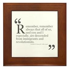 Revolutionists Framed Tile