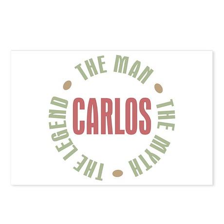 Carlos Man Myth Legend Postcards (Package of 8)