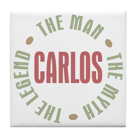 Carlos Man Myth Legend Tile Coaster