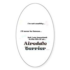 Airedale Terrier Life Oval Decal