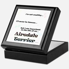 Airedale Terrier Life Keepsake Box