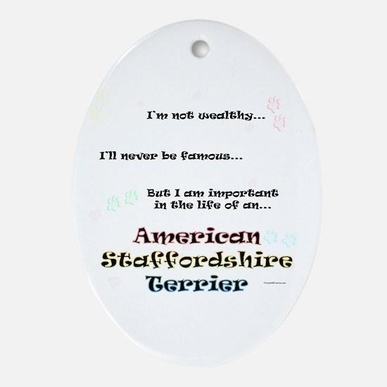 AmStaff Life Oval Ornament