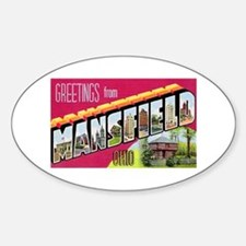 Mansfield Ohio Greetings Oval Decal