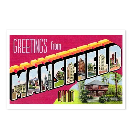 Mansfield Ohio Greetings Postcards (Package of 8)