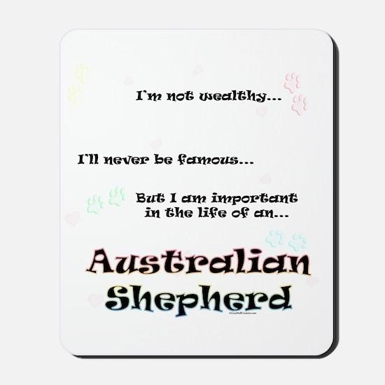 Aussie Shepherd Life Mousepad