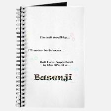 Basenji Life Journal