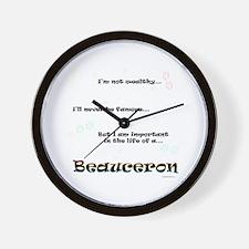 Beauceron Life Wall Clock