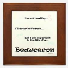 Beauceron Life Framed Tile