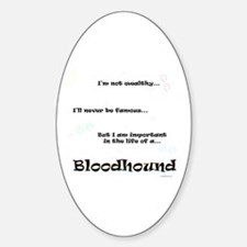 Bloodhound Life Oval Decal