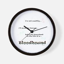 Bloodhound Life Wall Clock