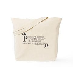 Look Backward Tote Bag