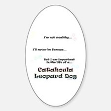 Catahoula Life Oval Decal
