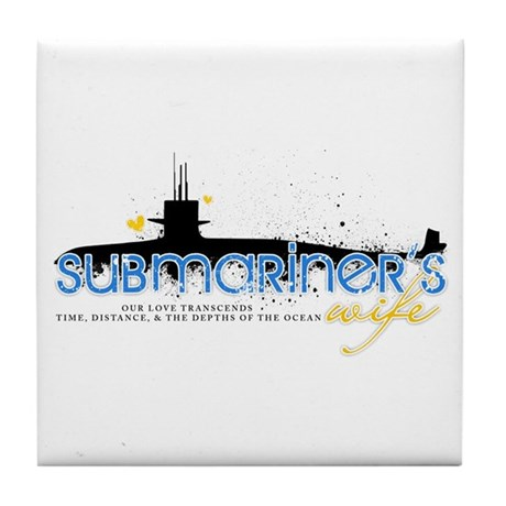 Submariner's Wife Tile Coaster