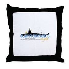 Submariner's Wife Throw Pillow