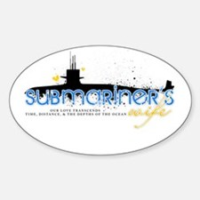 Submariner's Wife Oval Decal