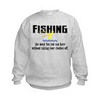 Fishing Fun Kids Sweatshirt